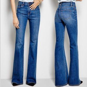 J CREW Ashbury Flare High Rise Jeans 28 Blue Denim
